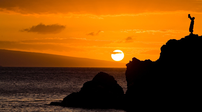 Maui Sunset at Black Rock
