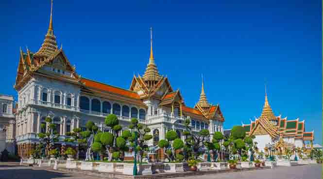 Don't miss the opulent Grand Palace whilst in Bangkok